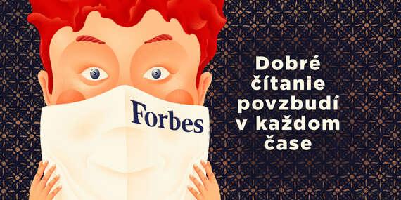 Ročné predplatné mesačníka Forbes + rúško s logom z kvalitnej textílie ako darček/Slovensko