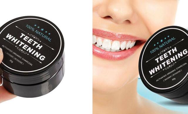 Aktívne uhlie na domáce bielenie zubov.