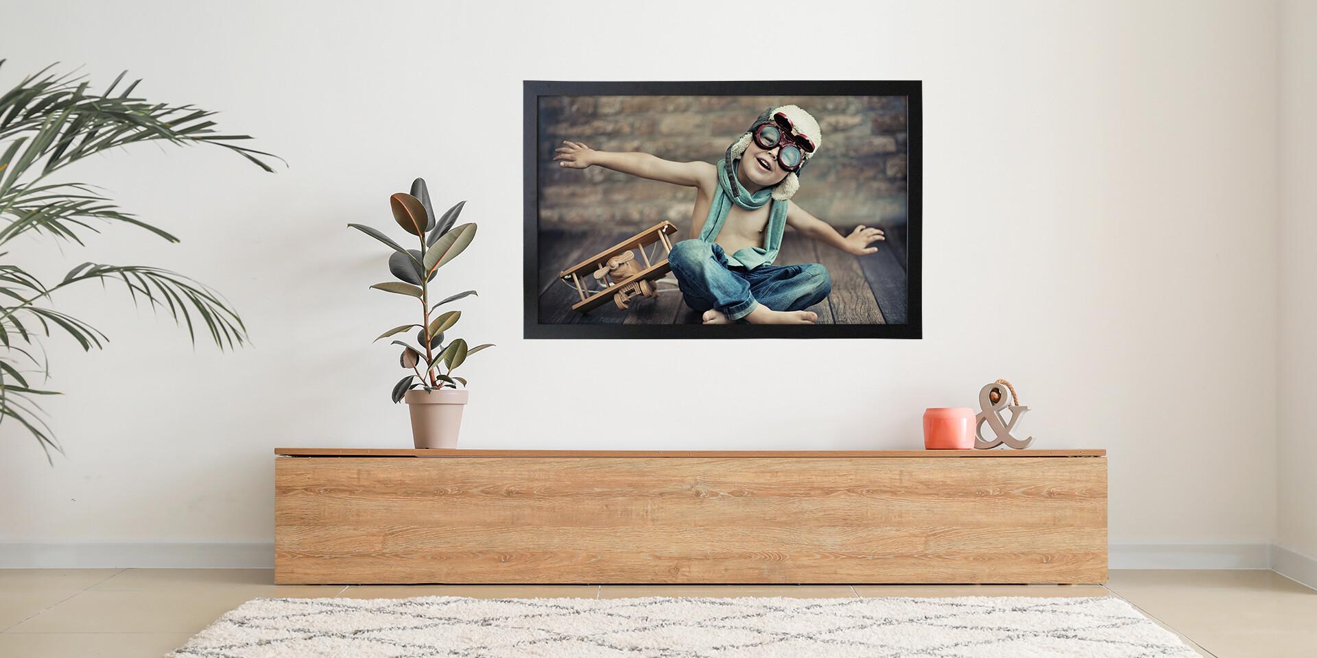 Obraz z vlastnej fotografie na odľahčenej doske v drevenom ráme - ...