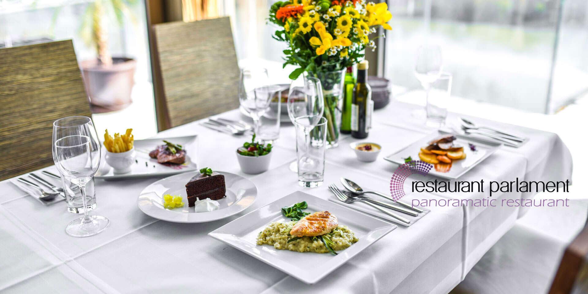 Darujte gastronomický zážitok - poukážku do Restaurant Parlament s nádherným výhľadom na Bratislavu