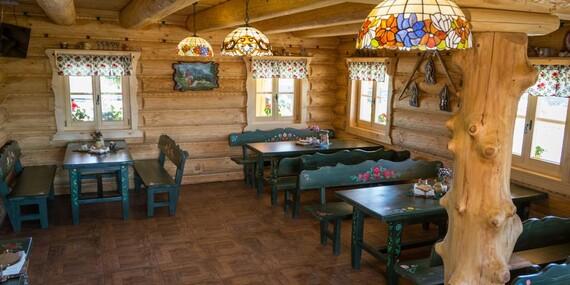 Wellness pobyt na Orave v krásnej Zbojníckej kolibe s polpenziou a možnosťou pivných kúpeľov/Oravská Jasenica
