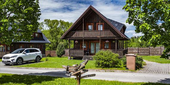 Jeseň na Liptove v krásnych dreveniciach Sojka resortu so zľavovou kartou a možnosťou wellness/Liptov – Malatíny