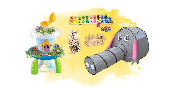 Múdre drevené hračky pre deti, magická záhradka, stan alebo nafukovacie kreslá/Slovensko