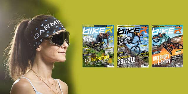 Ročné predplatné časopisu Biker s cyklomapami a kalendárom + funkčná čelenka Garmin