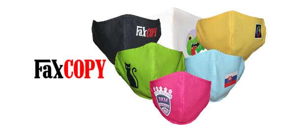 Bavlnené rúško s vašou fotografiou biele alebo množstvo farieb na výber, osobný odber až v 39 predajniach FaxCOPY zdarma/Slovensko