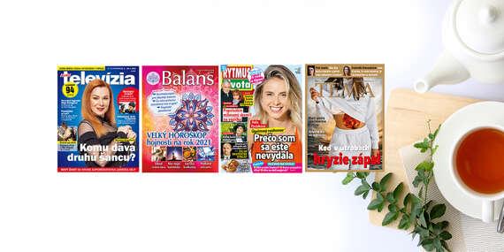 Ročné predplatné obľúbených titulov Eurotelevízia, Rytmus života, Téma a Balans/Slovensko