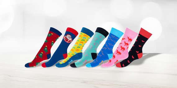NOVINKA: Pohodlné farebné a vianočné ponožky GOSH (až 18 vzorov)/Slovensko