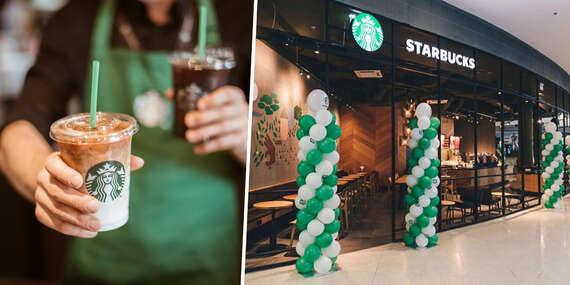 Starbucks oslavuje! 50 % zľava na vybraný merch + ľubovoľný nápoj veľkosti Tall zadarmo/AVION Shopping Park