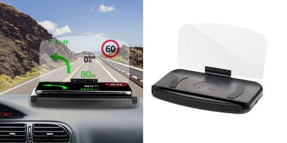 Držiak na mobil s projekciou GPS a bezdrôtovým nabíjaním/Slovensko