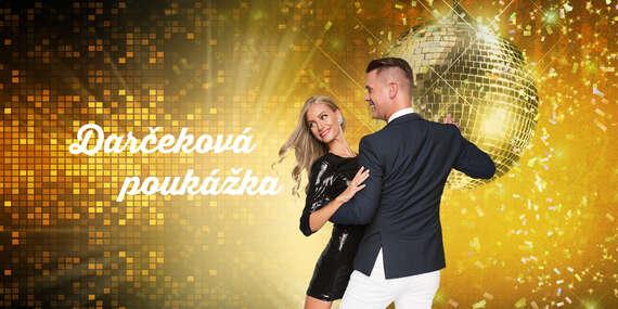 Darčeková poukážka na tanečný kurz v Tanečnej škole TOP CENTRUM/Bratislava – Petržalka, Staré Mesto
