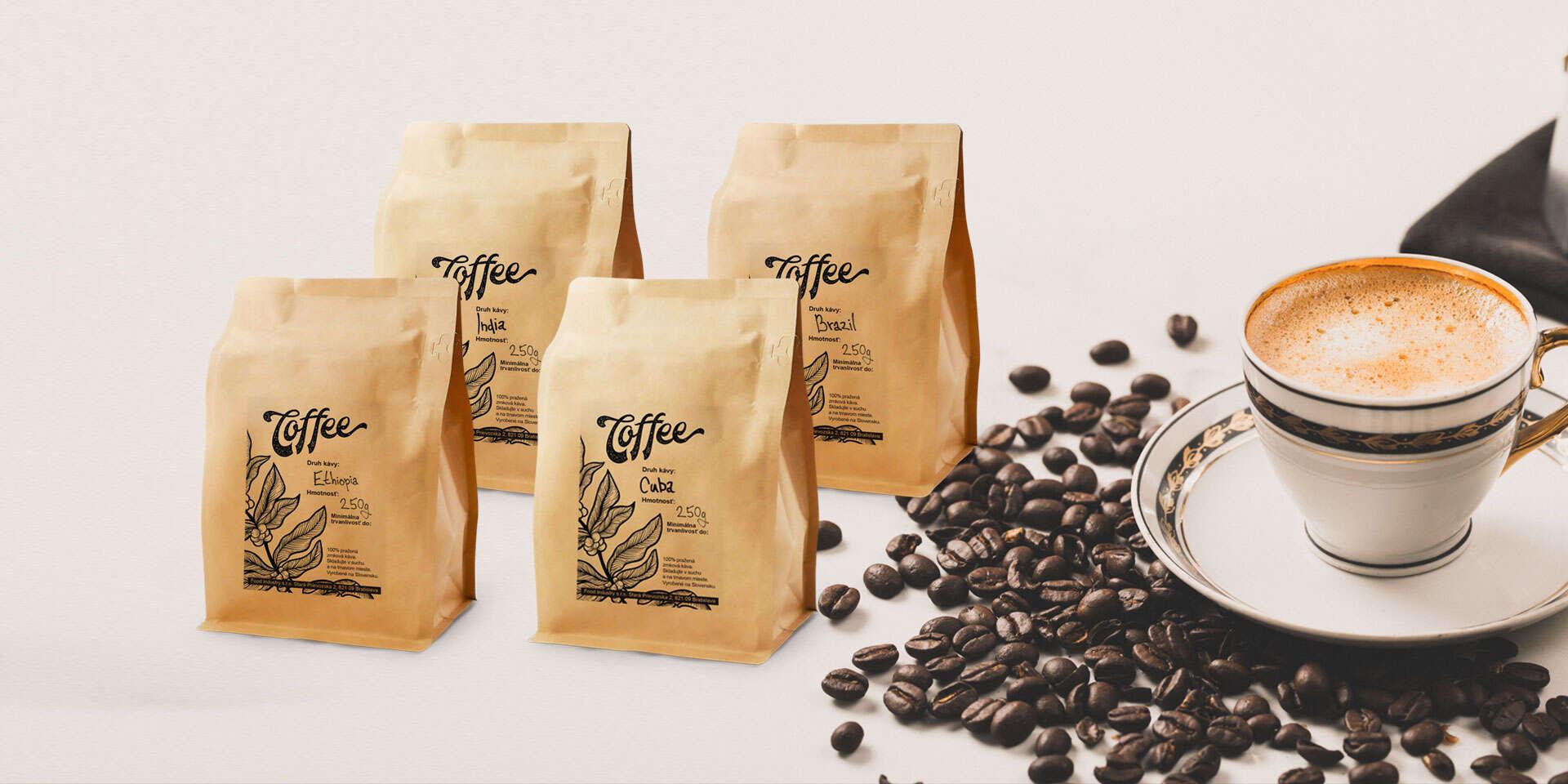 Balíček čerstvo praženej kávy priamo k vám domov alebo s osobným odberom