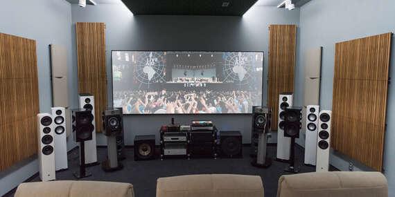 Súkromné kino pre 5 ľudí alebo hodina v HiFi showroome – darček pre filmových a hudobných nadšencov/Žilina