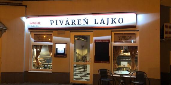 Ochutnajte pivo Bakalář a k tomu nakladaný syr encián, nátierku alebo paštétu v pivárni Lajko/Bratislava - Karlova Ves