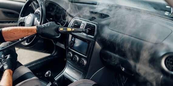 Parní čištění a dezinfekce vašeho vozidla přímo u vás doma - Praha aokolí do 15 km/Praha a okolí do 15 km
