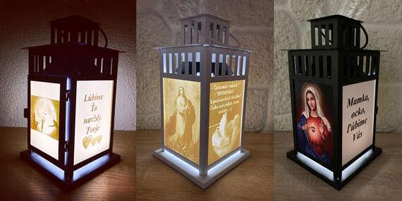 Lampáše na sviatky s vlastnou 3D alebo farebnou potlačou/Slovensko