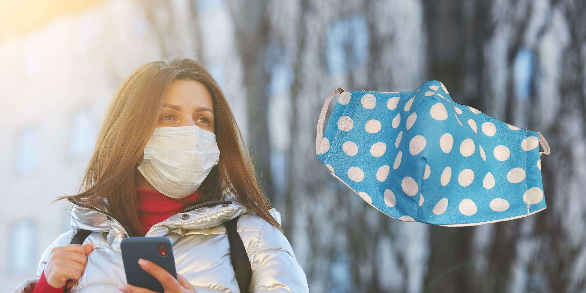 Bavlnené rúška s plieškom na nose a vreckom na filter pre deti aj dospelých