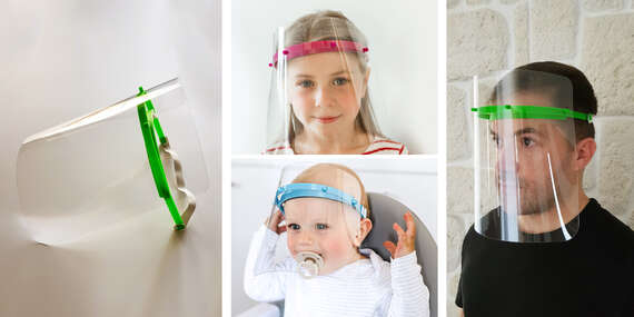 Vyrobené na Slovensku: Ochranný štít pre lekárov, predavačov, kuriérov + nové veľkosti pre deti/Slovensko