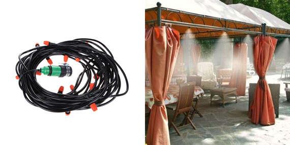 Chladiaci systém do záhrady s 10 tryskami na vodnú hmlu - na výber 10 malebo 15 m/Slovensko