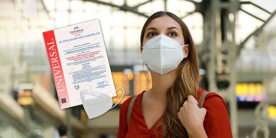 Respirátory FFP2 s certifikátom v každom balení a prvá pomoc pre domácnosť/Slovensko