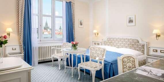 Luxusný hotel Ambasador Zlatá Husa***** na Václavskom námestí s neskorým check-outom/Praha - Česko