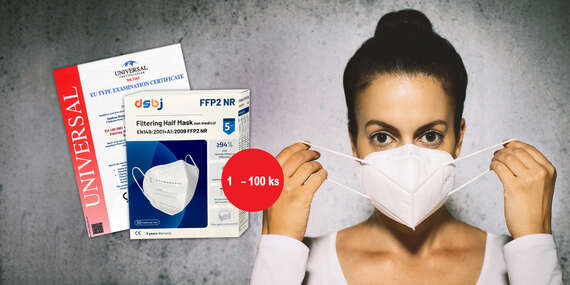 Respirátory FFP2 bez ventilu s certifikáciou (1 až 100 kusov)/Slovensko