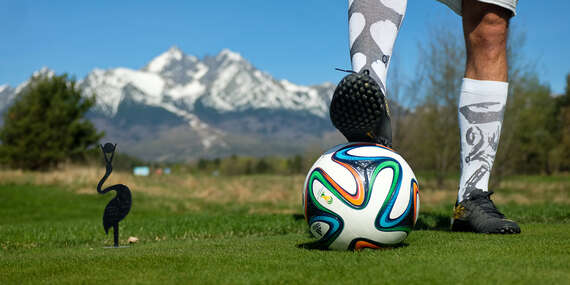 FootGolf - novinka na ihrisku Black Stork vo Vysokých Tatrách pre 1 až 4 ľudí / Vysoké Tatry - Veľká Lomnica