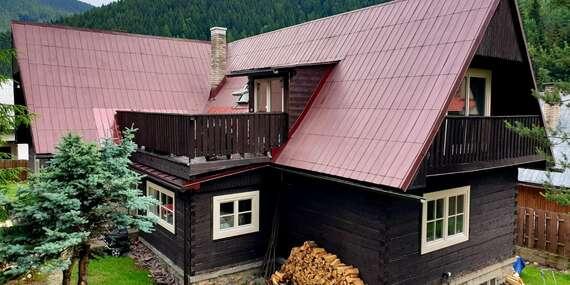 Pôvodná drevenica pre 20 ľudí so súkromnou kaďou a saunou, navyše s krásnym výhľadom na Liptov/Nižná Boca - Liptov