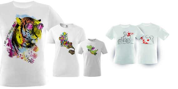 Originálne tričko s potlačou, omaľovánkou alebo pre páry od FaxCOPY/Slovensko