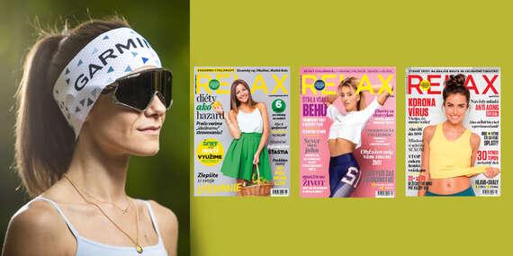 Ročné predplatné magazínu Relax o zdravom životnom štýle + funkčná čelenka Garmin/Slovensko