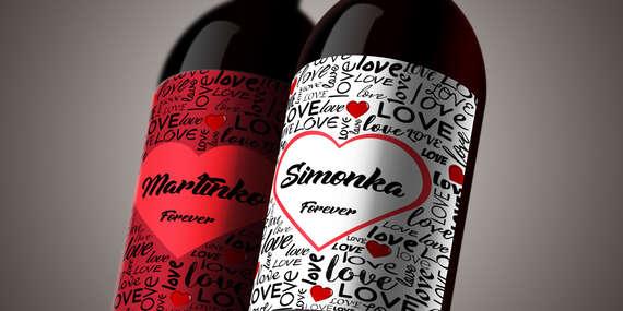 Povedzte to vínom - set valentínskych darčekových vín s vlastnou etiketou/Bratislava