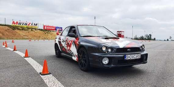 Showcars - 3 nebo 6 kol adrenalinové jízdy v Mitsubishi Lancer a Subaru Impreza na Polygonu Brno včetně pohonných hmot / Brno - Žebětín