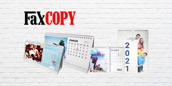 Stolový alebo nástenný foto kalendár s vlastnými fotografiami s osobným odberom ZADARMO až v 39 predajniach FaxCOPY/Slovensko