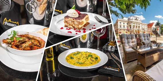 Talianske menu v Pressburg Prosecco Bar & Restaurant/Bratislava - Staré Mesto