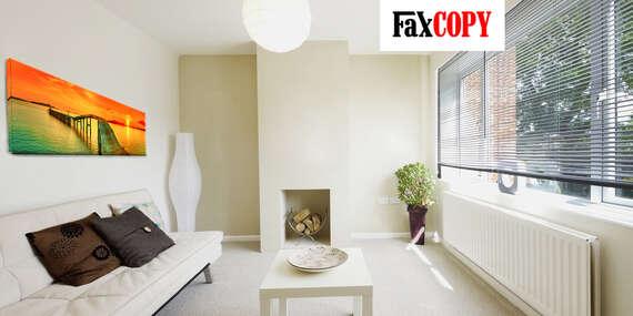 Panoramatický obraz na plátne z vlastnej fotografie so skrytým rámom s osobným odberom ZADARMO až v 40 predajniach FaxCOPY/Slovensko