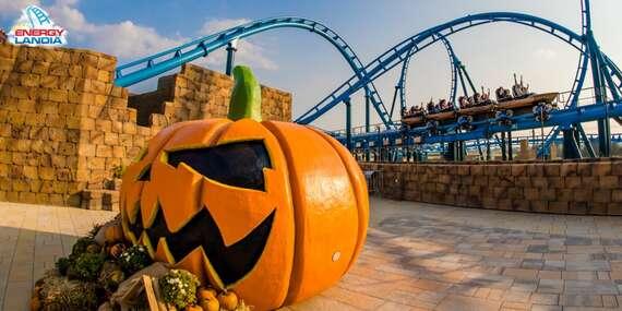 Halloweenske zľavy v zábavnom parku ENERGYLANDIA s voľným vstupom na 106 atrakcií/Poľsko - Zator