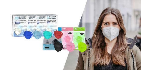 Barevné nebo bílé respirátory FFP2 bez výdechového filtru/Slovensko