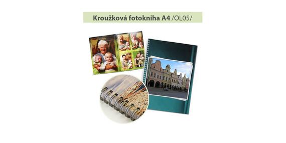 Fotokniha s trvanlivou kroužkovou vazbou ve formátu A4/ČR