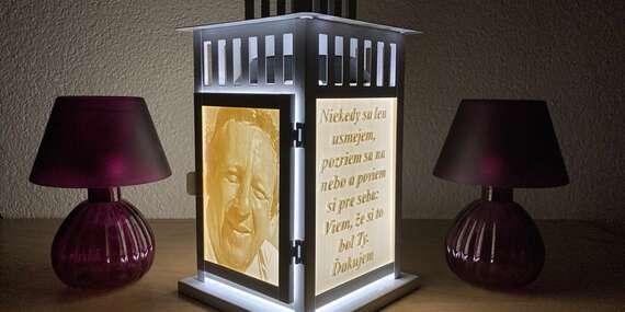 Osobná spomienka na Všech Svätých: Lampáše s vlastnou 3D alebo farebnou potlačou/Slovensko