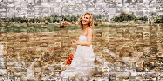 Mozaika na plátne z vlastných fotografií – natiahnutá na ráme so závesným systémom / Slovensko