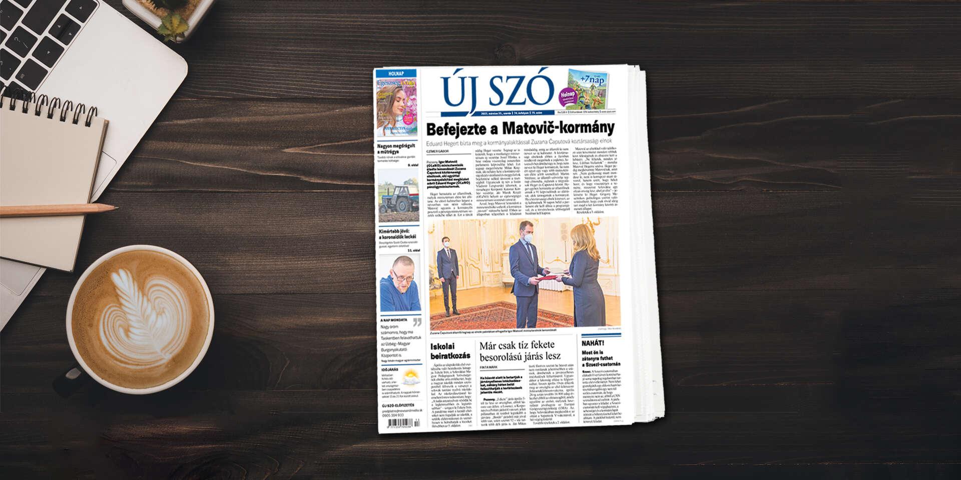 Ročné predplatné maďarského denníka Új Szó