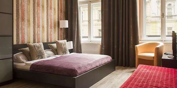 Moderné Royal Court Apartments len 10 minút od Václavského námestia, s raňajkami v cene/Praha - Česko