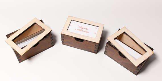 Drevené krabičky s 30 vyznaniami a citátmi – pre zaľúbených, na narodeniny či pre učiteľov/Slovensko
