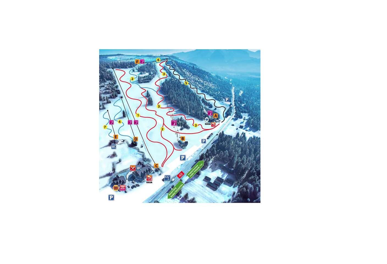 Celodenná + večerná lyžovačka v poľských Tatrách v obľúbeno...