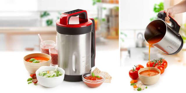 Automatický polievkovar DOMO s ďalšími funkciami – mixovanie, príprava smoothie, marmelád alebo ohrievanie