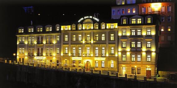 Karlovarská zima v Hotelu Jean de Carro**** přímo na kolonádě s polopenzí, vstupem do thermaria i s masáží/Karlovy Vary