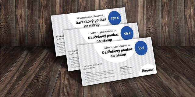 Darčekový poukaz na nákup na Boomer.sk.