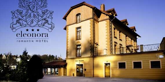 Romantik hotel Eleonora s oceněním 3* Hotel Jihočeského kraje poblíž historické centra města Tábor s polopenzí a koupelí/Tábor