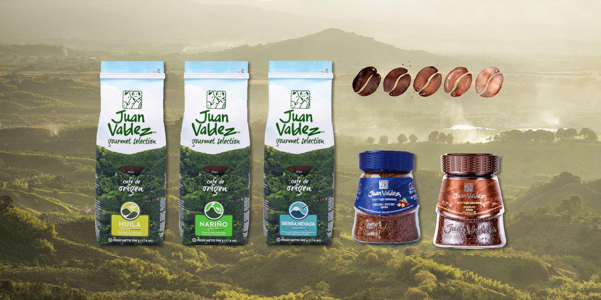Prémiová kolumbijská káva Juan Valdez – prírodne pražená alebo instantná lyofilizovaná
