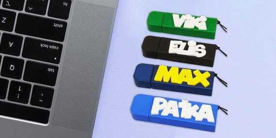 Originálne USB kľúče s vlastným 3D textom (vyrobené na Slovensku)/Slovensko