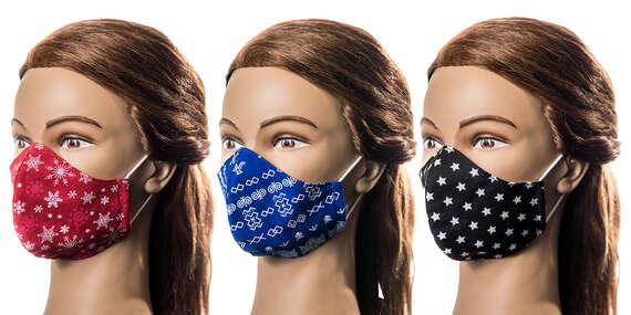 Kvalitné tvarované rúška pre malých i veľkých, ktoré príjemne sedia na tvári/Slovensko